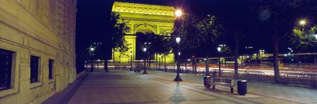 Evening Arc de Triomphe Paris France