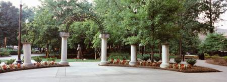 Entrance of a park Krutch Park Knoxville Knox Cou