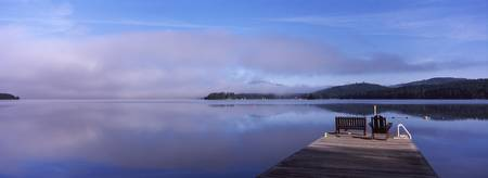 Pier at a lake Fourth Lake Adirondack Mountains N