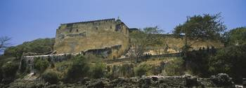 Fortified walls of a fort