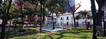Fountain in a park Bolivar Square Caracas Venezue
