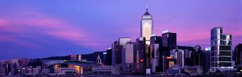 Sunset Skyline Hong Kong China