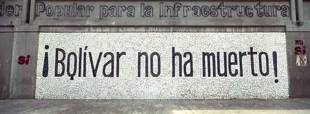 Text on a wall La Hoyada Caracas Venezuela