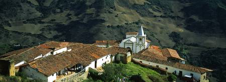 High angle view of a village San Rafael De Mucuch