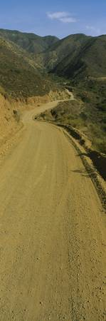 Dirt road on a hillside