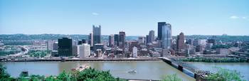 Monongahela River and Pittsburgh skyline PA