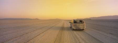 Car in a desert