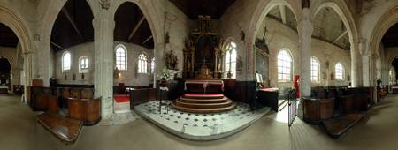 360 degree view of a church interior Veules les R