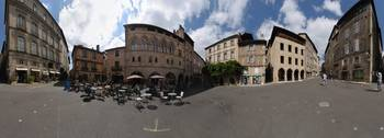 360 degree view of a city Place Champollion Figea