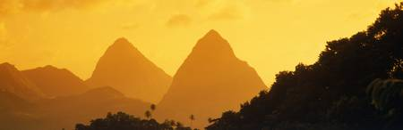 Twin Pitons St Lucia West Indies