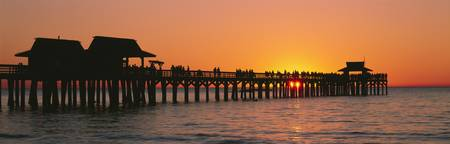 Sunset Naples Pier Gulf of Mexico Naples FL