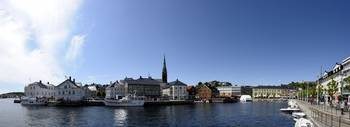 City at the waterfront Arendal Aust Agder Norway