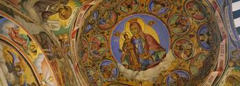 Fresco on the ceiling of a monastery