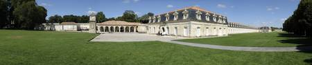 Lawn in front of a palace La Corderie Royale Roch