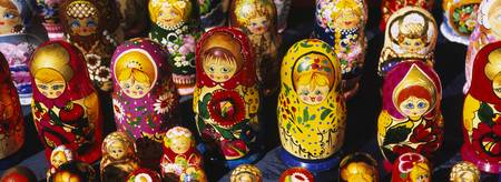 Close-up of Russian nesting dolls