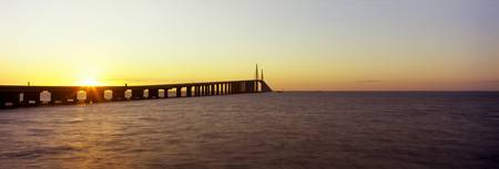 Bridge at sunrise Sunshine Skyway Bridge Tampa Ba