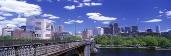 Skyline fr Longfellow Bridge Boston MA