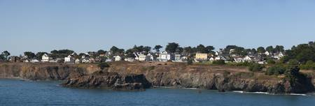 Buildings at the waterfront Mendocino California
