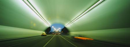 Vehicles passing through a tunnel