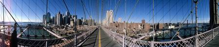 360 degree view of a bridge Brooklyn Bridge East