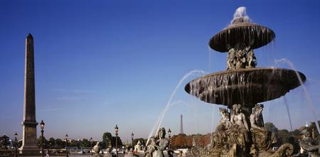 Fountain and Obelisk Place de la Concorde Paris F