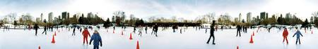 360 degree view of tourists ice skating Wollman R