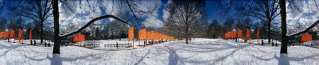 360 degree view of gates in an urban park The Gat