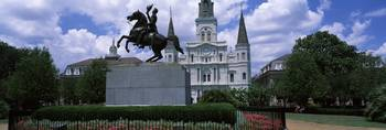 St Louis Cathedral and Statue Andrew Jackson New