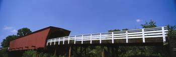 Low angle view of a covered bridge