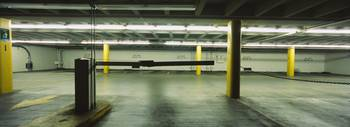 Empty indoor parking lot