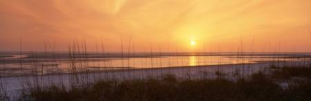 sunset ovr Gulf of Mexico Tigertail Public Beach