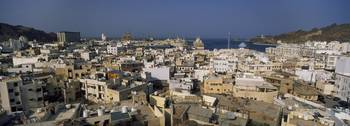 High angle view of a city Muttrah Muscat Oman