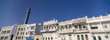 Low angle view of buildings Muttrah Muscat Oman