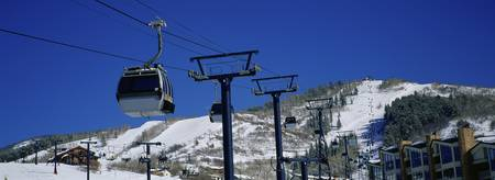 Low angle view of a ski lift