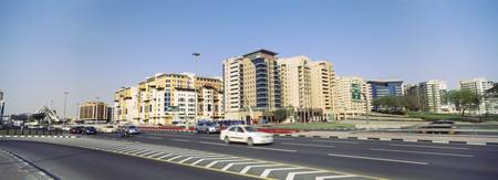 Hotels and apartment buildings in a city Dubai Un