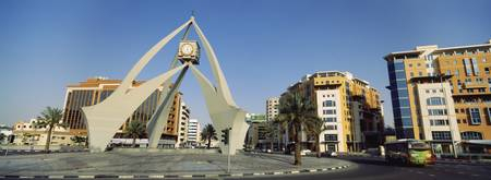Monument in a city Deira Clocktower Al Rigga Duba