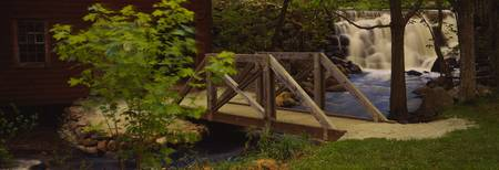 Footbridge over a stream