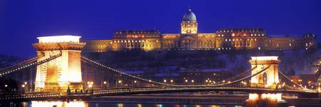 Chain Bridge Royal Palace Budapest Hungary