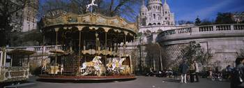 Carousel in front of a basilica