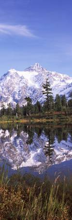 Reflection of mountains in a lake Mt Shuksan Pict