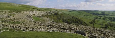 Limestone pavement on a landscape