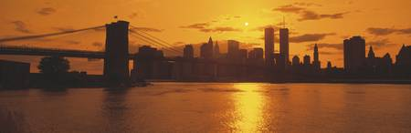 Sunset Skyline New York City NY