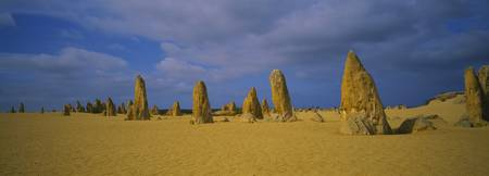 Pinnacles in a desert