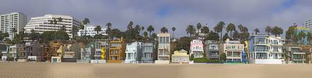 Houses on the beach Santa Monica Los Angeles Coun