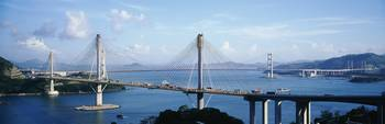 Ting Kaw and Tsing Ma Bridge Hong Kong China