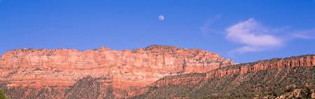 Moon Rising ovr Zion National Park UT