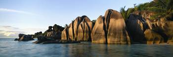 Rock formations at the waterfront
