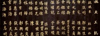 Close-up of Chinese ideograms