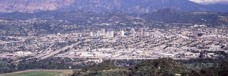 Aerial view of a cityscape Pasadena Los Angeles C
