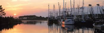 Sunset Shrimp Boats AL